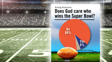 Does God decide, care who wins the Super Bowl?